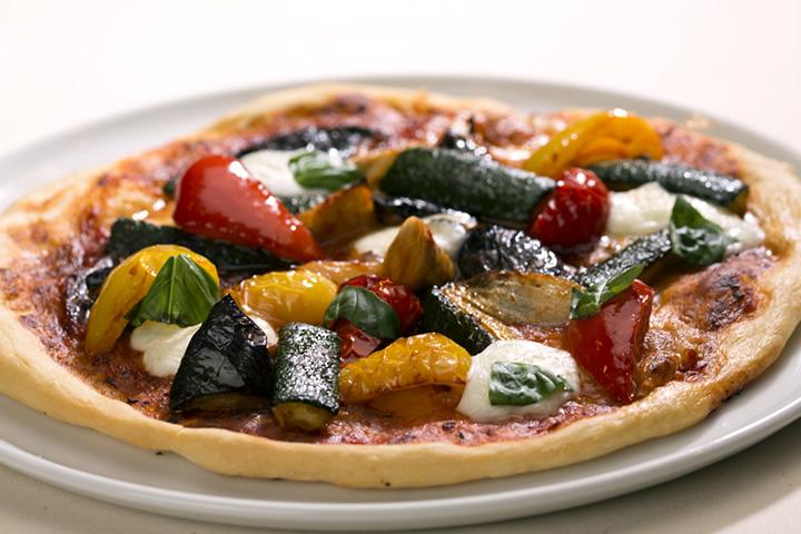 ディナー_京野菜ごろごろピザ