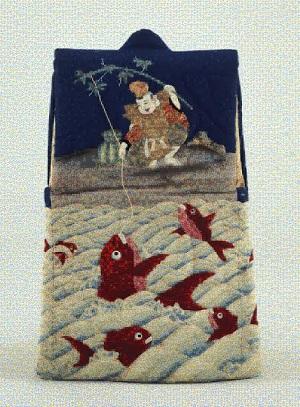 フォトモザイクで表現する「紺地恵比寿鯛釣文様でんち」