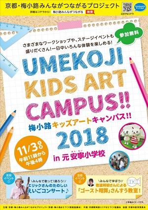 京都・梅小路みんながつながるプロジェクト「梅小路キッズアートキャンパス!!2018」を開催 11/3